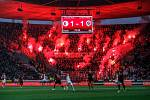 Atmosféra derby Sparta - Slavia bývá s diváky hodně divoká