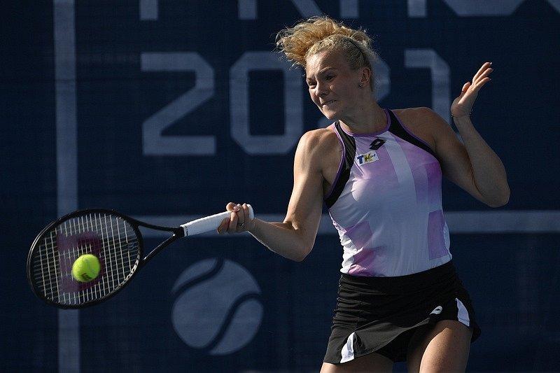 Kateřina Siniaková na Prague Open 2021.
