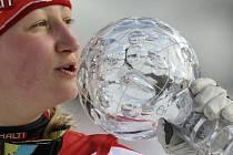 Finská lyžařka Tanja Poutiainenová podruhé v kariéře triumfovala v hodnocení obřího slalomu.