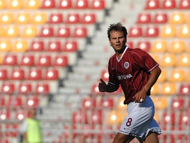 Patrik Berger v přípravném utkání s Ružomberokem.
