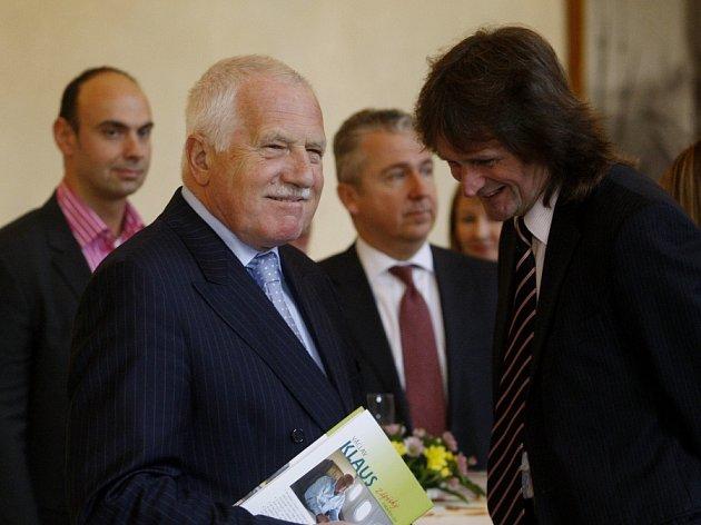 Prezident Václav Klaus představil 1. listopadu svoji novou knihu, Zápisky z nového světa.