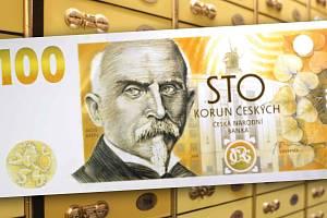 Pamětní stokorunová bankovka ke stoletému výročí československé koruny