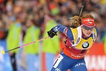 Gabriela Soukalová na Světovém poháru v Anterselvě.
