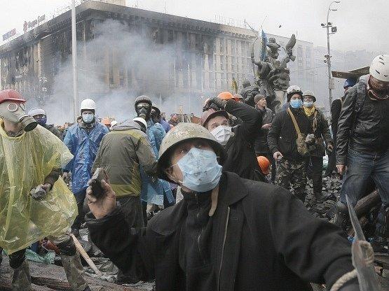 V Kyjevě se po krátkém příměří opět rozhořely boje.