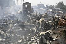 Požár tržiště v Nairobi