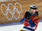 Eva Samková na olympijských hrách v Pchjongčchangu.