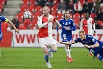 Michael Krmenčík v utkání proti Olomouci.
