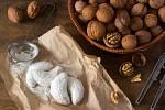 vanilkové ořechové rohlíčky