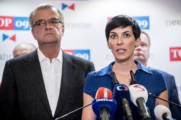 Markéta Pekarová Adamová a Miroslav Kalousek.