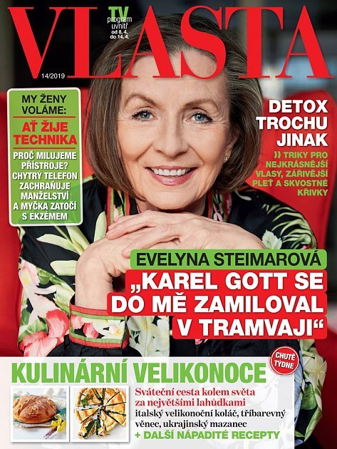 Evelyna Steimarová na titulce magazínu Vlasta.