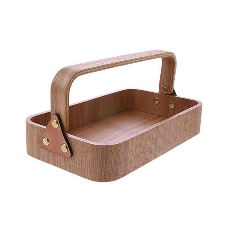 Dřevěný box s madlem Willow.