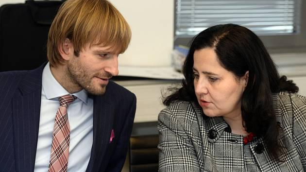 Ministr zdravotnictví Adam Vojtěch s Jaroslavou Němcovou
