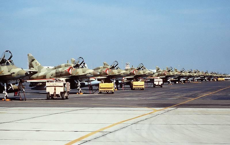 Kuvajtské bitevní letouny McDonnell Douglas A-4KU Skyhawk