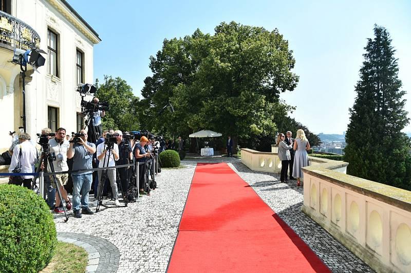Schůzka premiéra Andreje Babiše a ministra zahraničí Mika Pompea