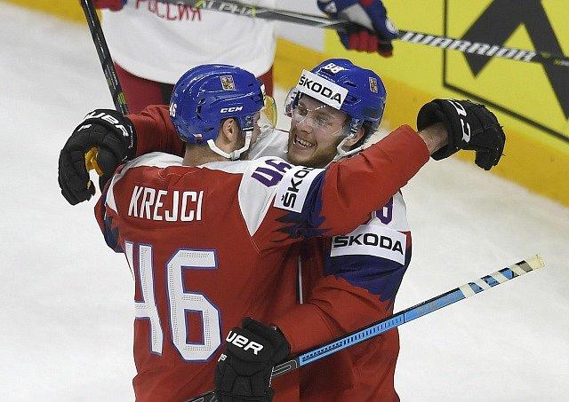 Vítězný zápas Česka proti Rusku.