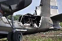 Na letišti u Čáslavi havaroval ve středu 23. května 2012 při přistání ruský vojenský letoun a začal hořet. Na palubě bylo 23 lidí, sedm z nich bylo zraněno. V těchto dnech byla v Čáslavi ruská pozorovací mise se speciálním pozorovacím letounem typu Antono