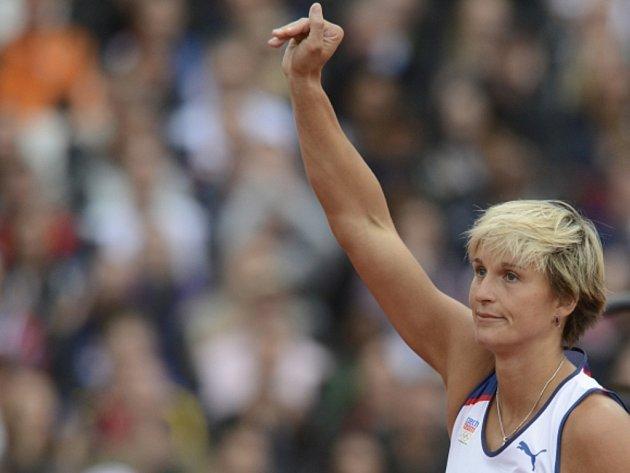 Oštěpařka Barbora Špotáková na olympijských hrách v Londýně.