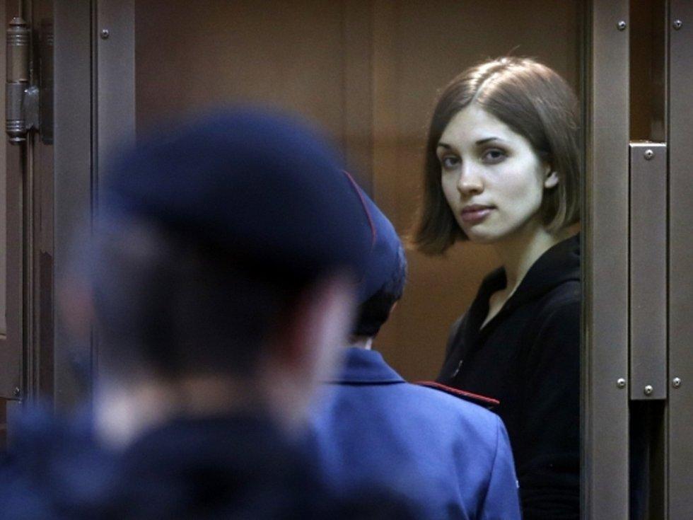 Vězněná členka ruské punkové skupiny Pussy Riot Naděžda Tolokonnikovová.
