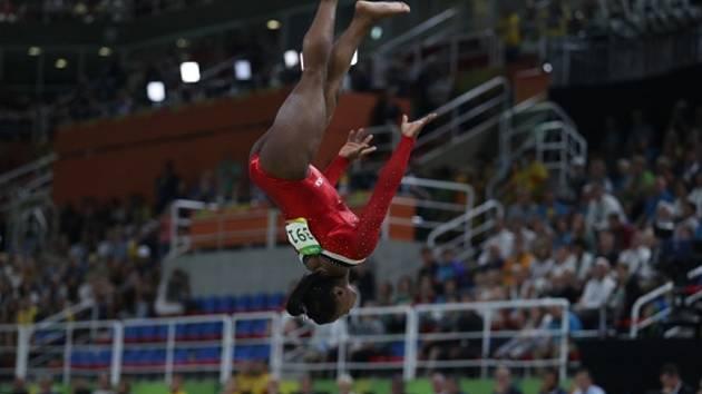 Simone Bilesová na olympijských hrách v Riu.