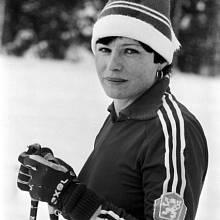 Gabriela Svobodová během domácí přípravy na ZOH v Sarajevu 1984