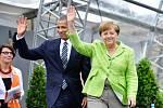 Barack Obama a Angela Merkelová v Berlíně
