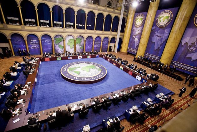 Jednání při summitu G 20.