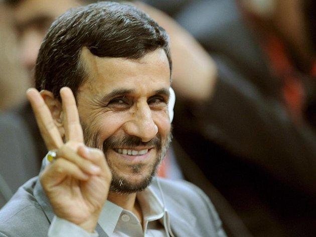 Iránský prezident Mahmúd Ahmadínežád