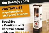 Zapojte se sDeníkem do soutěže o tři dárkové swhiskey Jim Beam.