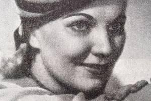 Jiřina Štěpničková před rokem 1941, tedy v časech své největší slávy
