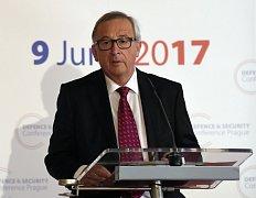 Předseda Evropské komise Jean-Claude Juncker vystoupil 9. června v Praze na konferenci Evropské unie o budoucnosti evropské bezpečnosti a obrany.
