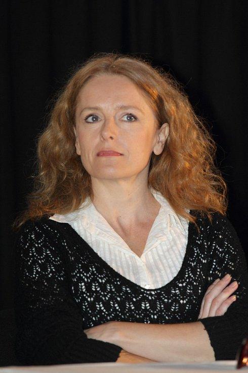 Lucie Trmíková se svou dřívější barvou vlasů.