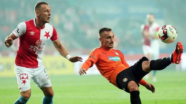 Zápas fotbalové Fortuna ligy - SK Slavie Praha - FC Viktoria Plzeň v Edenu 1.září.