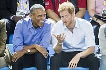 Princ Harry a Barack Obama