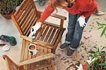 Zahradní nábytek bude po novém nátěru jako nový.