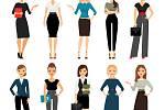 Ženy mají mnoho možností, co si na pracovní pohovor obléci.