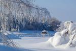 Sníh v ulicích ruského Saratova