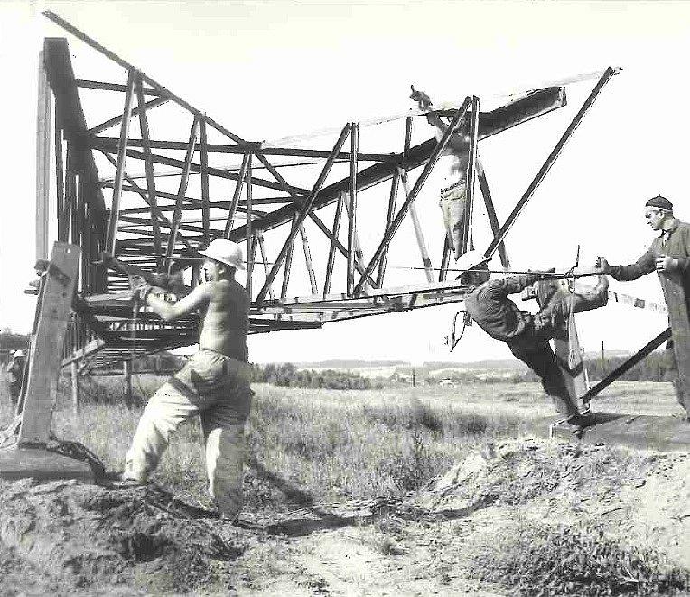 Stavba vedení 220 kV
