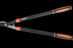 Teleskopické nůžky na větve HECHT 018LGG, 379 Kč. Pákové dvoučepelové nůžky na keře mají teleskopické rukojeti z ocelových profilů se snadnou aretací v nastavené délce pootočením. Délka 63–95 cm.