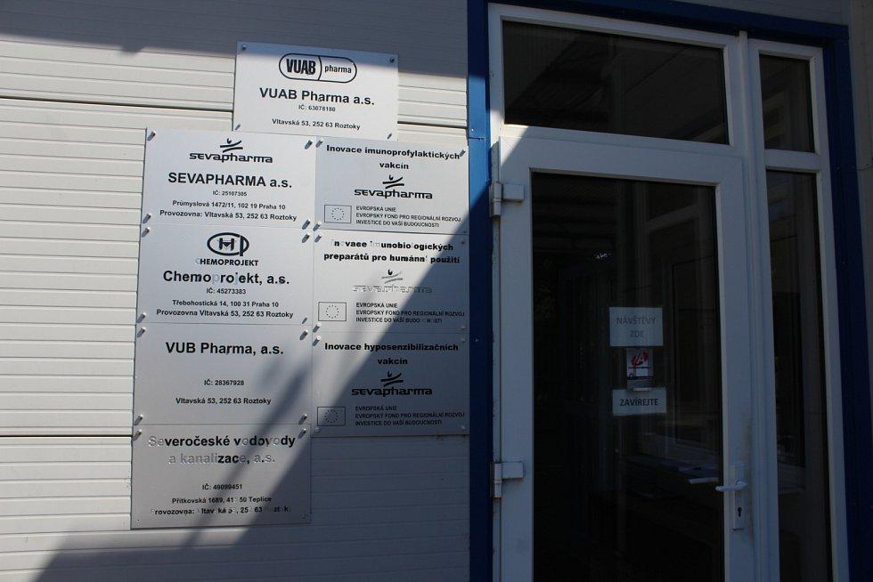 Společnost VUAB Pharma v Roztokách u Prahy