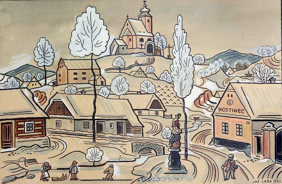 Josef lada, výstava v brně