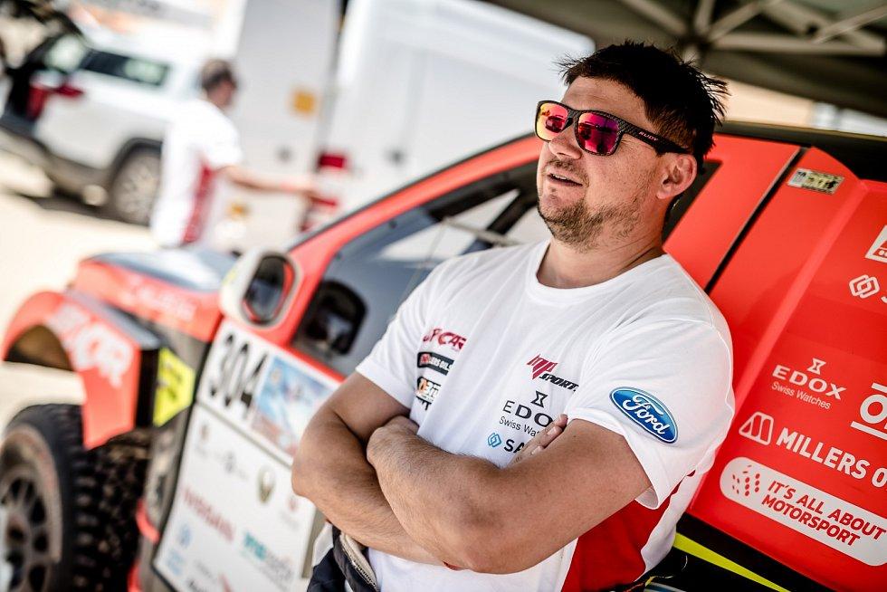 Abú Zabí Desert Challenge Rallye. Martin Prokop, David Pabiška