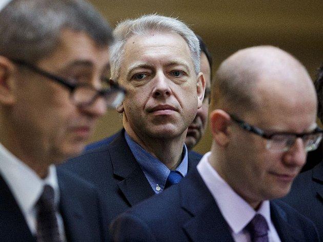 Premiér Bohuslav Sobotka (ČSSD) doufá, že se podaří přes dosavadní odpor ministerstva financí prosadit vyšší počty policistů.
