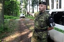 Vojenský prostor v Brdech. Ilustrační foto