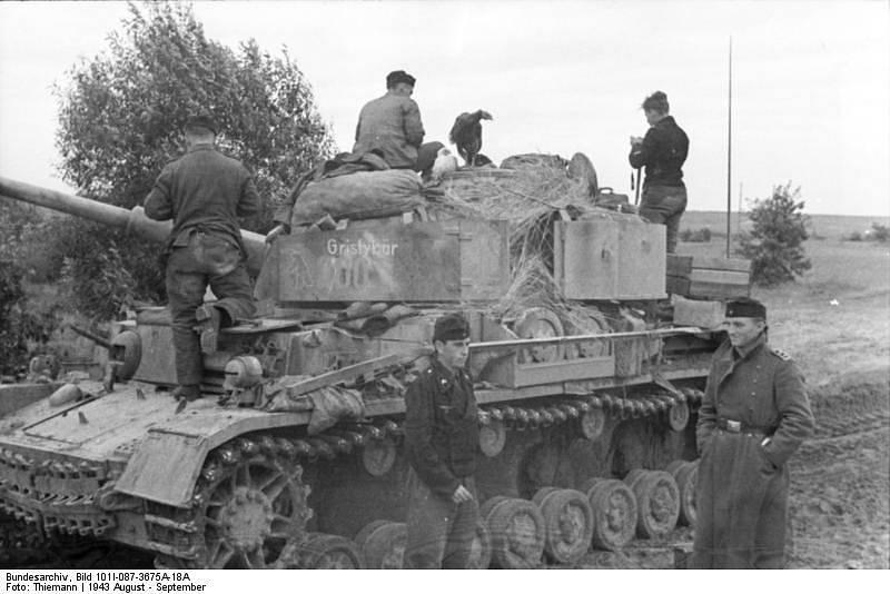 Příslušníci německé 4. tankové divize