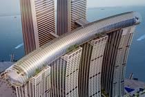 Horizontální mrakodrap v čínském Čchung-čchingu