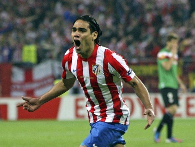 Falcao z Atlétika Madrid se raduje z gólu proti Bilbau.