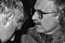 Tomáš Ježek a Václav Klaus v roce 1990.