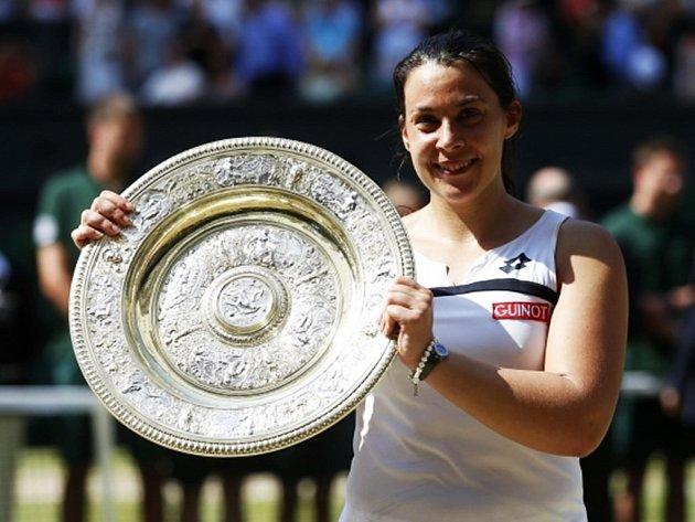 Vítězka Wimbledonu Marion Bartoliová.