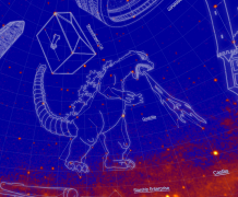 Nová souhvězdí, objevená satelitem Fermi