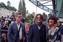 Johnny Deppp v srpnu v Karlových Varech